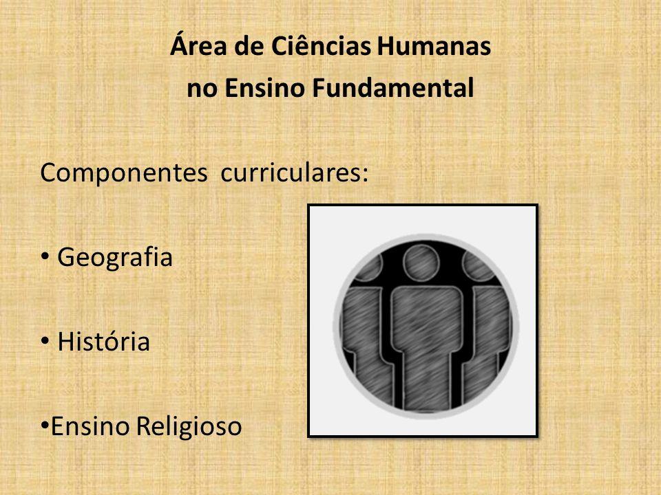 Área de Ciências Humanas no Ensino Fundamental Componentes curriculares: Geografia História Ensino Religioso