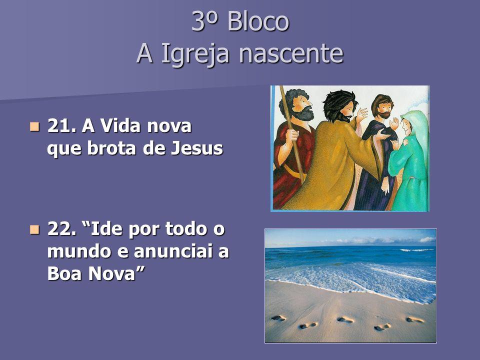 3º Bloco A Igreja nascente 21.A Vida nova que brota de Jesus 21.