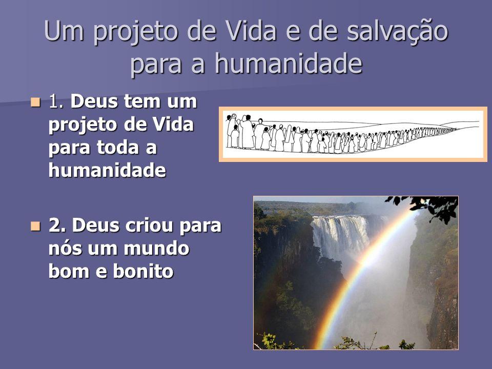 Um projeto de Vida e de salvação para a humanidade 1.