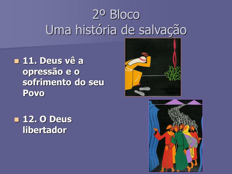 2º Bloco Uma história de salvação 11.Deus vê a opressão e o sofrimento do seu Povo 11.