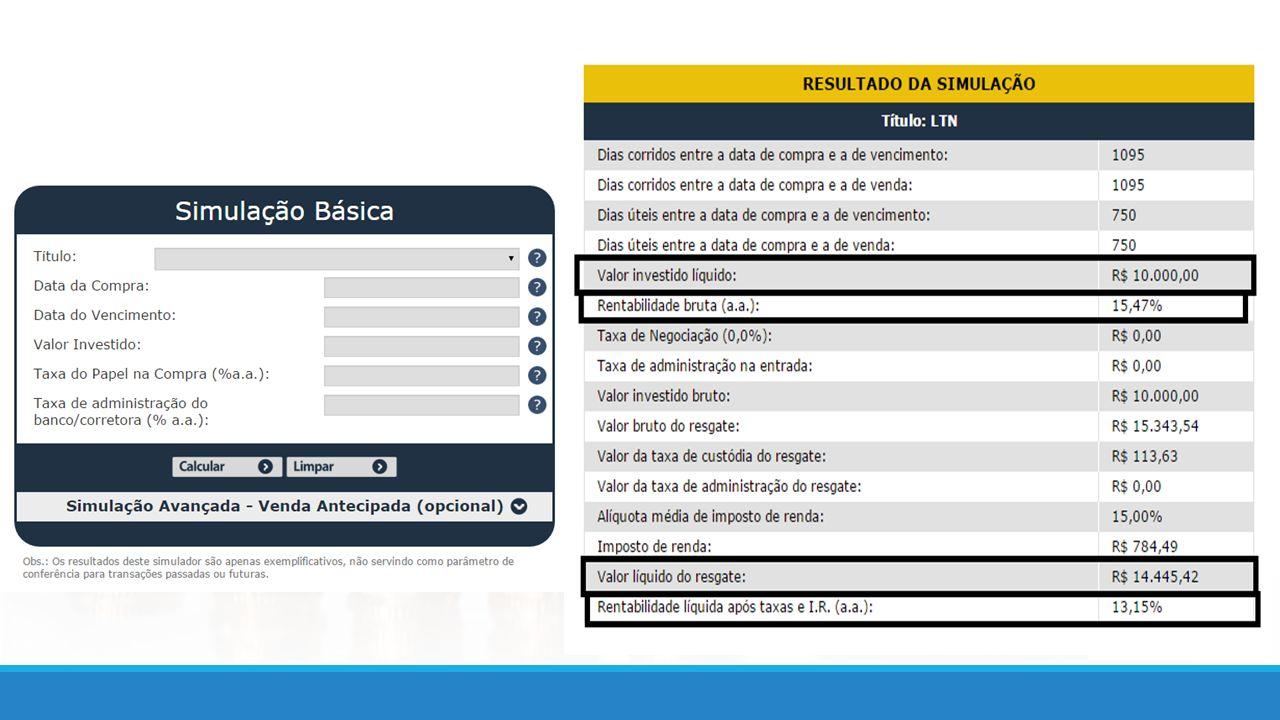 Links úteis: - Cidadania Financeira – Banco Central: vídeo-aulas e dicas de finanças pessoais https://cidadaniafinanceira.bcb.gov.br/ - Tesouro Direto: simulador de investimentos e vídeo explicativo de como investir http://www.tesouro.fazenda.gov.br/tesouro-direto - Infomoney: site com informações financeiras diversas http://www.infomoney.com.br/ - Anbima: Fundos de Investimento ( Classificação ) http://portal.anbima.com.br/fundos-de-investimento/Pages/Fundos-de-Investimento.aspx - BMF&BOVESPA: http://www.bmfbovespa.com.br