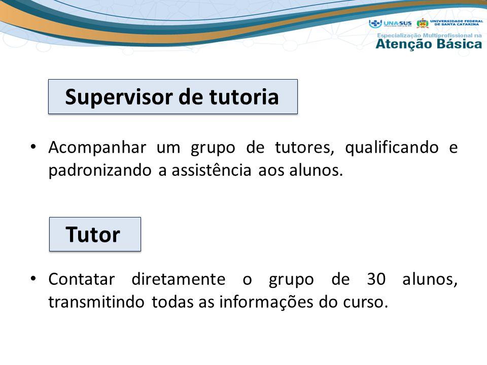 Acompanhar um grupo de tutores, qualificando e padronizando a assistência aos alunos.