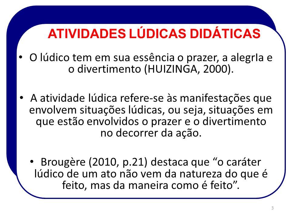 O lúdico tem em sua essência o prazer, a alegrIa e o divertimento (HUIZINGA, 2000).