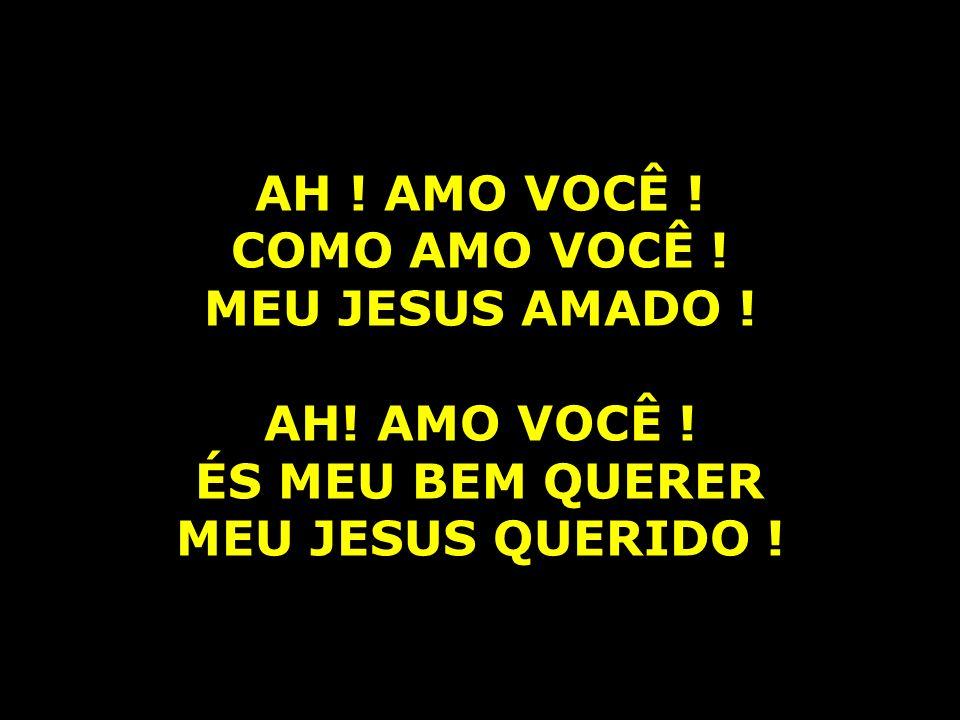 AH .AMO VOCÊ . COMO AMO VOCÊ . MEU JESUS AMADO . AH.