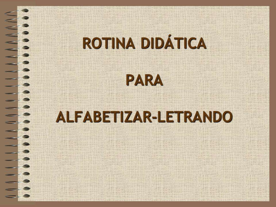 ROTINA DIDÁTICA PARA ALFABETIZAR-LETRANDO