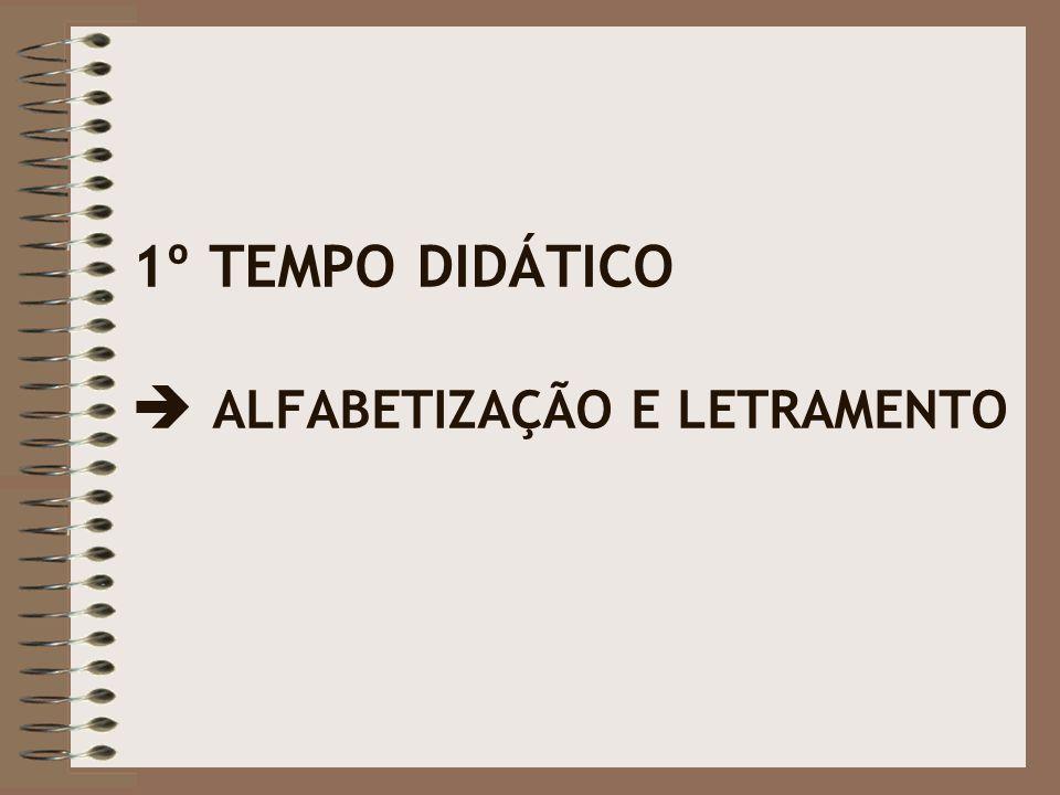 1º TEMPO DIDÁTICO  ALFABETIZAÇÃO E LETRAMENTO