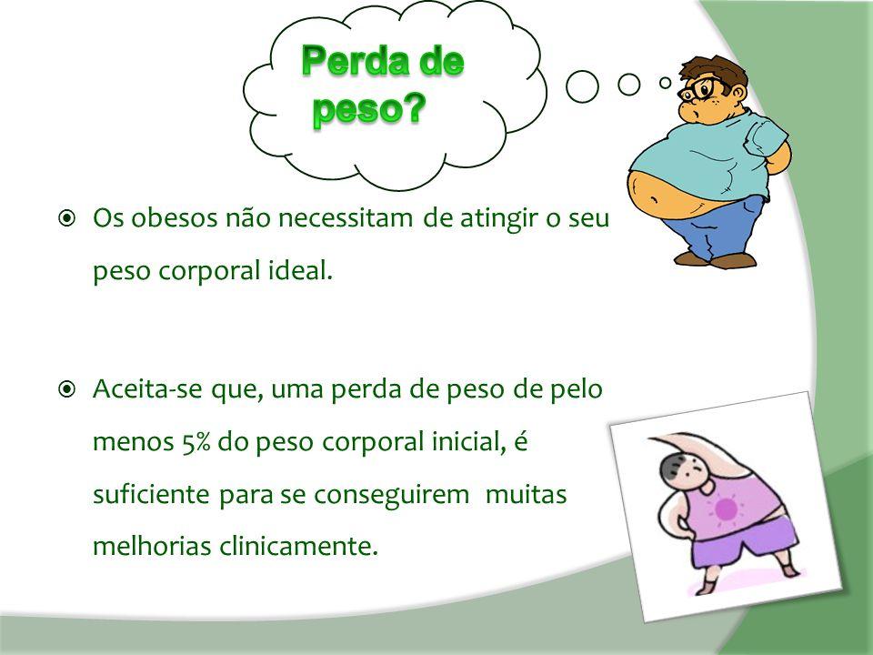  Os obesos não necessitam de atingir o seu peso corporal ideal.