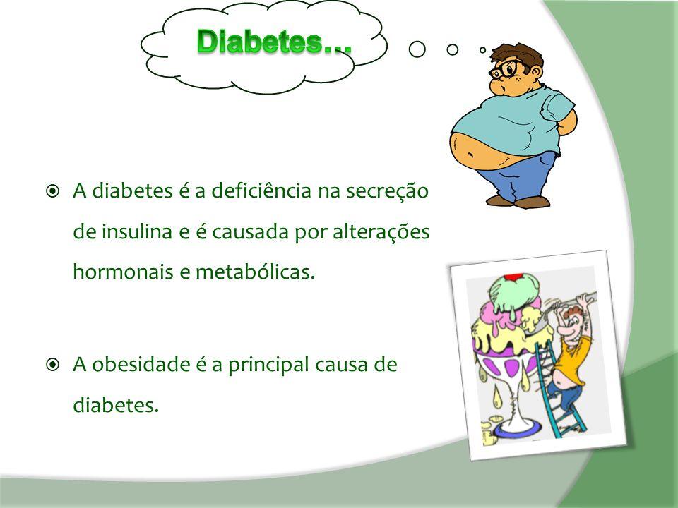  A diabetes é a deficiência na secreção de insulina e é causada por alterações hormonais e metabólicas.