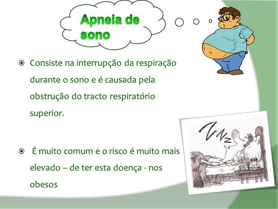  Consiste na interrupção da respiração durante o sono e é causada pela obstrução do tracto respiratório superior.