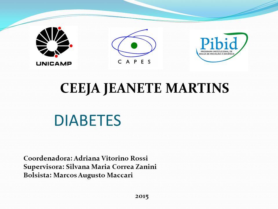 Diabetes É uma doença na qual o organismo tem dificuldade em absorve a glicose, ou seja, o organismo apresenta dificuldades de fazer a glicose entrar nas células.