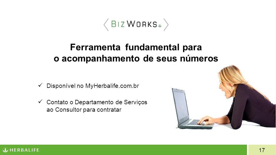 17 Ferramenta fundamental para o acompanhamento de seus números Disponível no MyHerbalife.com.br Contato o Departamento de Serviços ao Consultor para contratar