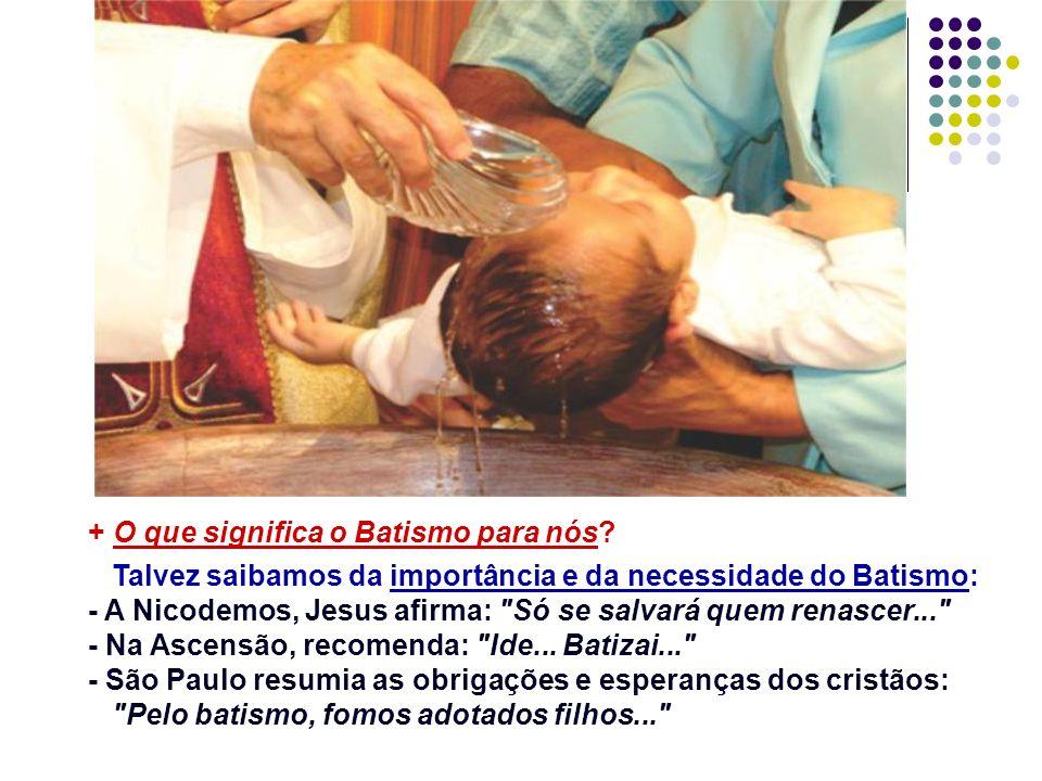 O Batismo de João: não era sacramento... Os sacramentos foram instituídos por Jesus.