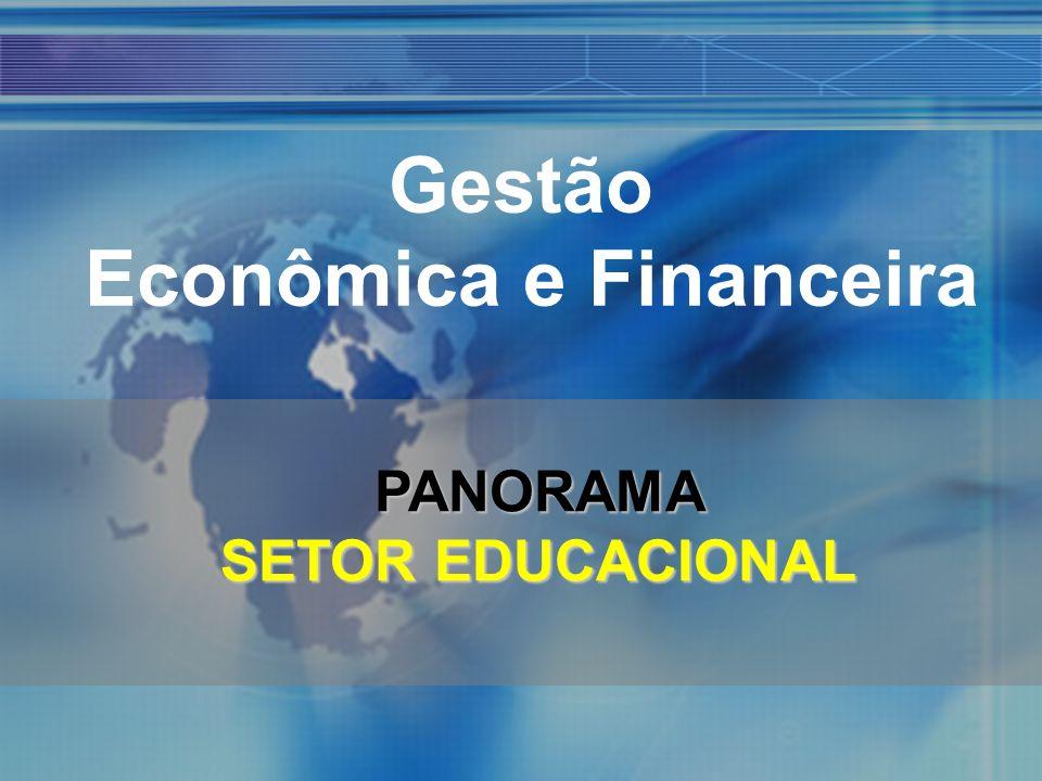 Gestão Econômica e Financeira PANORAMA SETOR EDUCACIONAL