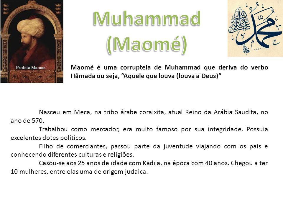 Nasceu em Meca, na tribo árabe coraixita, atual Reino da Arábia Saudita, no ano de 570.