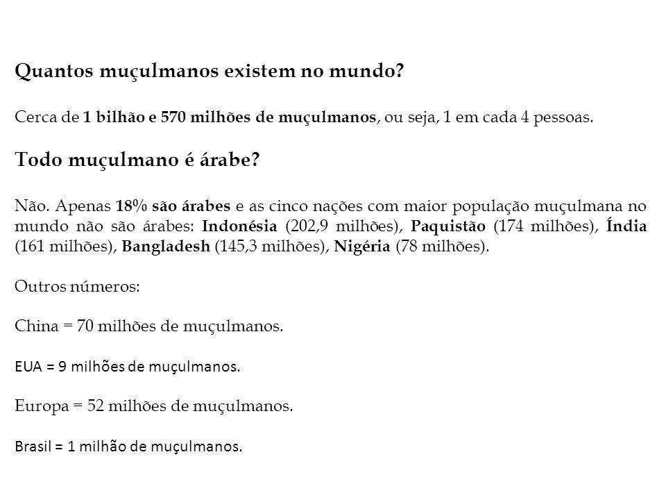 Quantos muçulmanos existem no mundo.