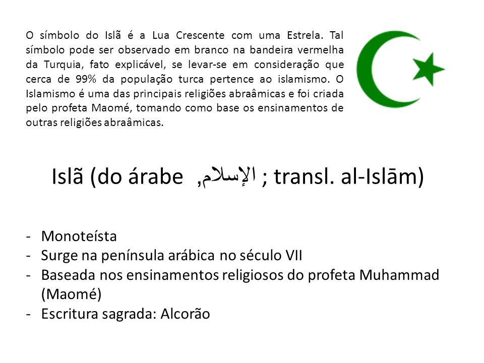 O símbolo do Islã é a Lua Crescente com uma Estrela.
