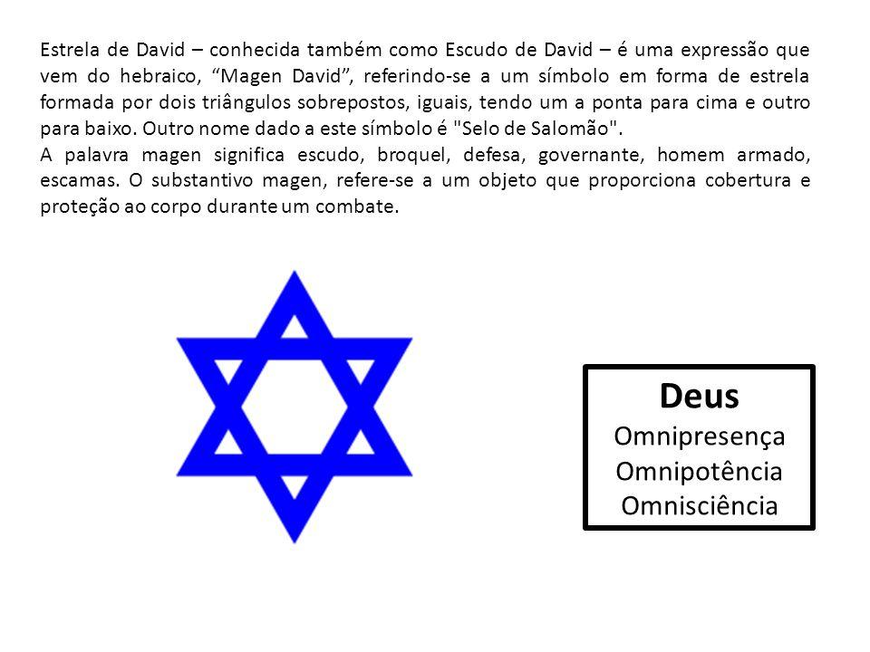 """Estrela de David – conhecida também como Escudo de David – é uma expressão que vem do hebraico, """"Magen David"""", referindo-se a um símbolo em forma de e"""