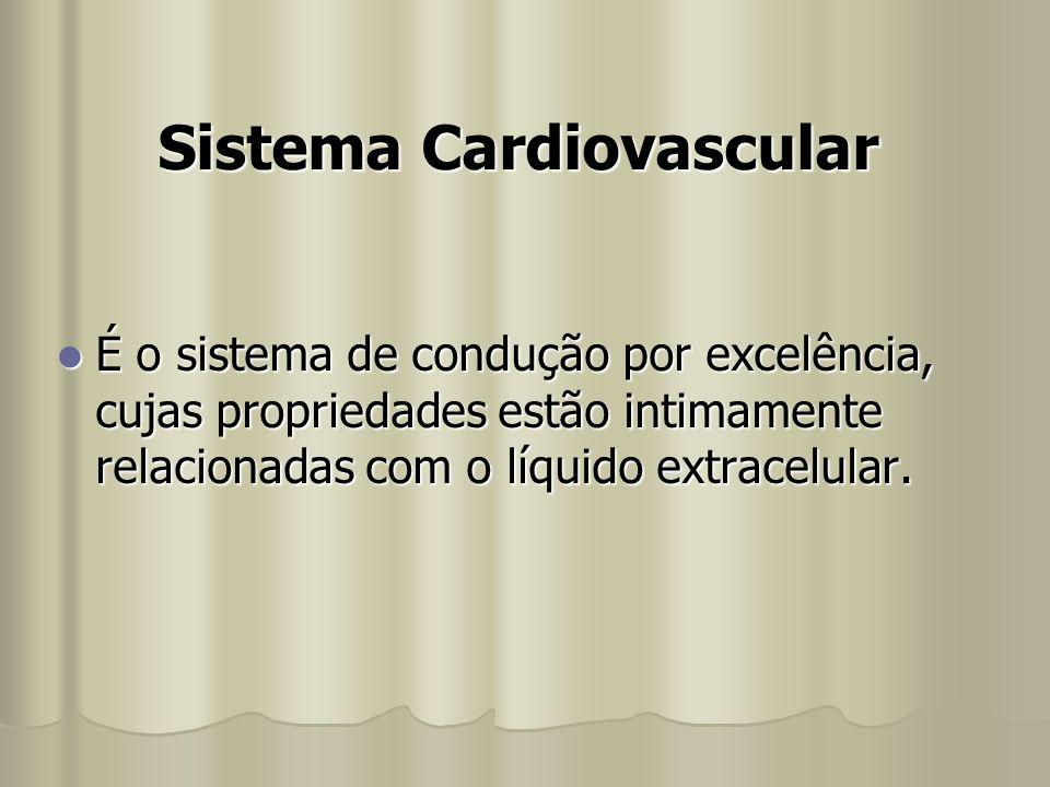 Sistema Cardiovascular É o sistema de condução por excelência, cujas propriedades estão intimamente relacionadas com o líquido extracelular. É o siste