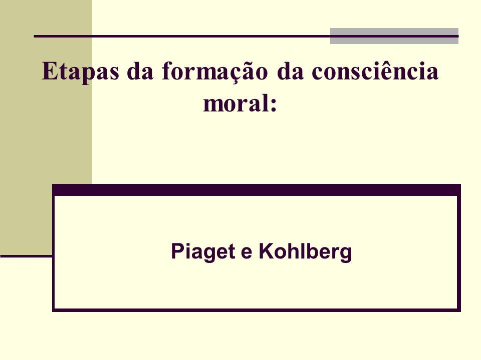 Etapas da formação da consciência moral: Piaget e Kohlberg