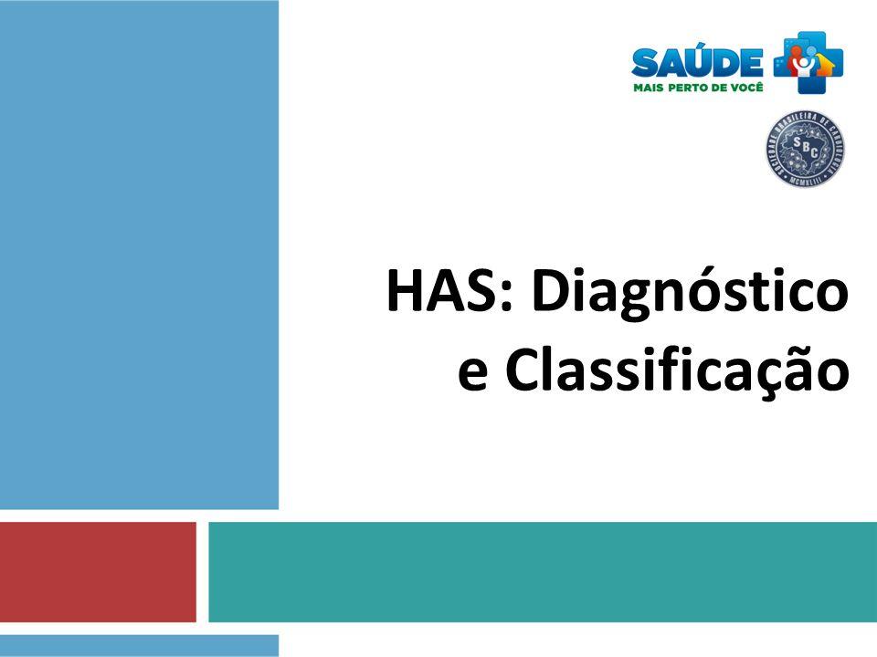 HAS - Diagnóstico A partir da medida da Pressão Arterial...