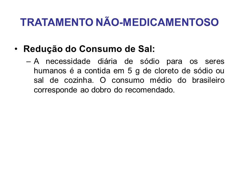 Redução do Consumo de Sal: –A necessidade diária de sódio para os seres humanos é a contida em 5 g de cloreto de sódio ou sal de cozinha.