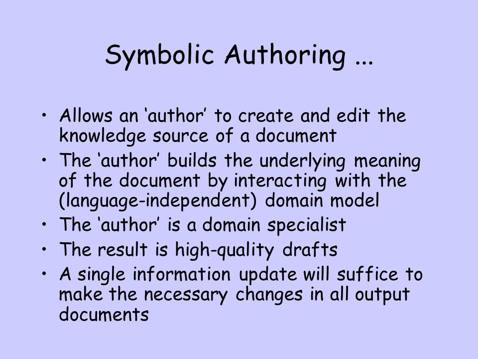 Symbolic Authoring...