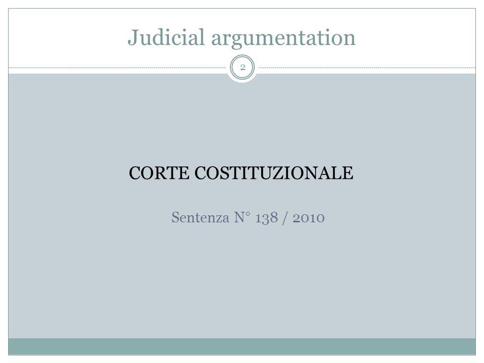 CORTE COSTITUZIONALE Sentenza N° 138 / 2010 2
