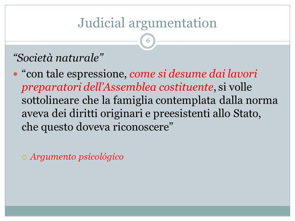 Judicial argumentation Art.13 CRP: 1.