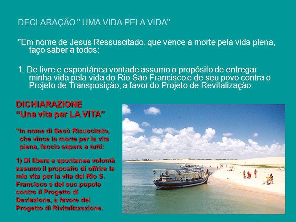 Estamos de coração unidos ao querido irmão Dom Luís D. Pedro Casaldáliga O bispo do município de Barra na Bahia, Frei Luís Flávio Cappio, iniciou na ú