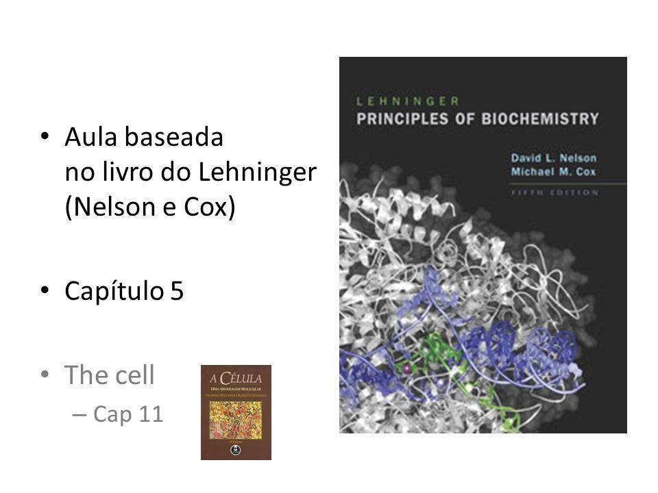 Aula baseada no livro do Lehninger (Nelson e Cox) Capítulo 5 The cell – Cap 11