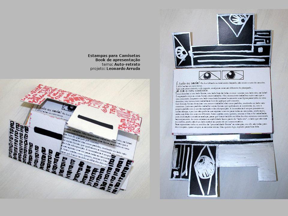 Estampas para Camisetas Book de apresentação tema: Auto-retrato projeto: Leonardo Arruda