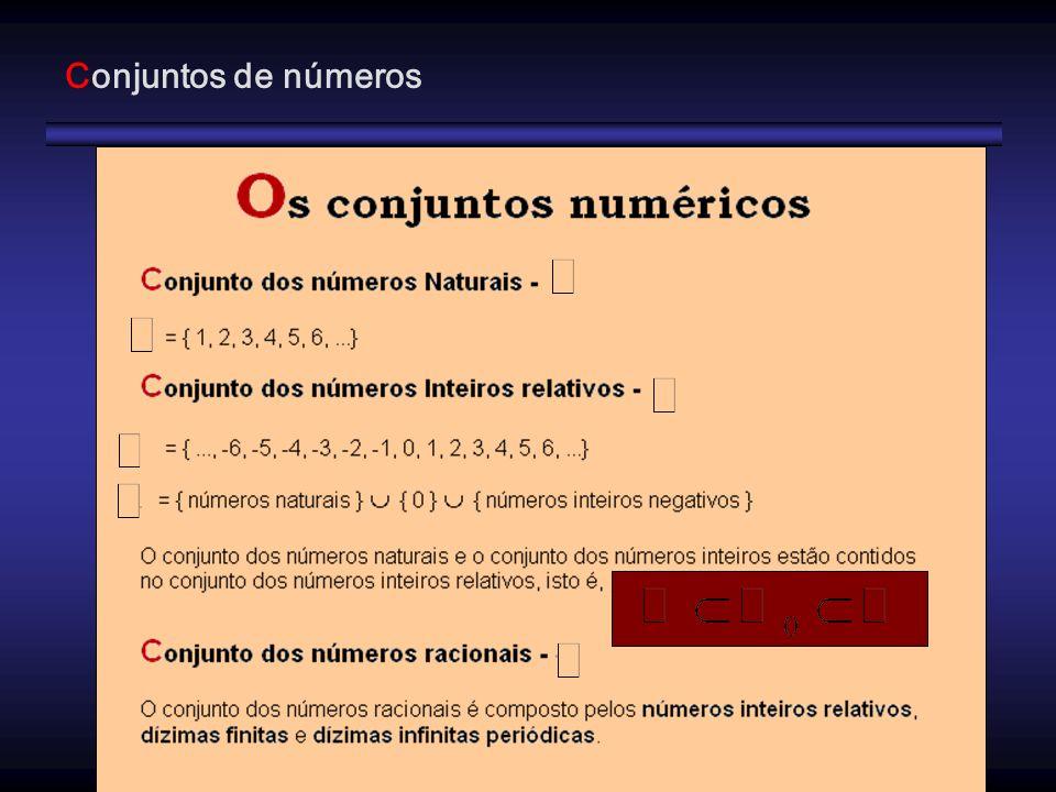 Conjuntos de números