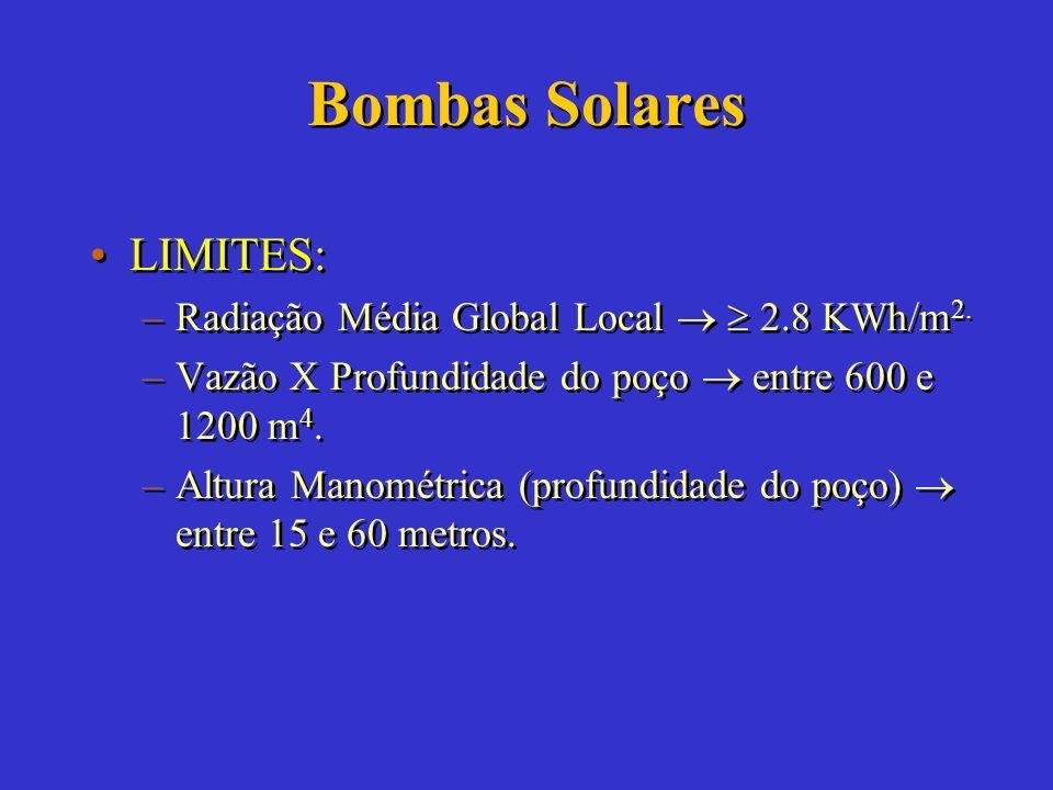 Bombas Solares RECURSOS SOLARES ADEQUADOS CASO DO NORDESTE BRASILEIRO DEMANDA DE ÁGUA MODERADA