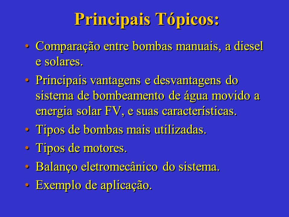 BOMBEAMENTO DE ÁGUA A Alternativa Solar Grupo:Bianca de Castro Leyen Ricardo Cerbino Salles Grupo:Bianca de Castro Leyen Ricardo Cerbino Salles