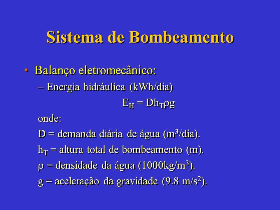 Bomba Volumétrica Prof. Poço x Vazão = 200m 4 Turbina CA ou CC Submersa Com múltiplos estágios Bomba CA ou CC Submersa Bomba CC SuperficiaisBomba Manu