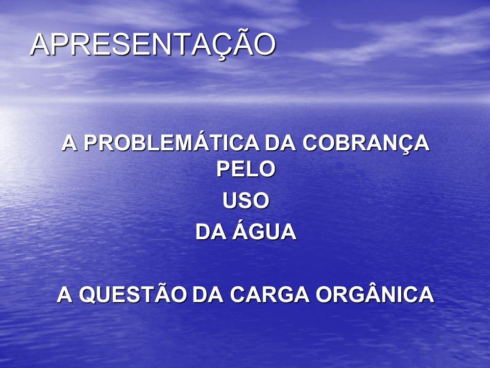 CARGA ORGÂNICA: PRODUTO DA DBO PELA VAZÃO MÉDIA DO EFLUENTE Exemplos: A) DBO 5,20 = 250 mg/L Vazão = 500 L/s Vazão = 500 L/s Carga Orgânica = 250 mg/L x 500 L/s Carga Orgânica = 250 mg/L x 500 L/s Carga Orgânica = 125.000 mg/s = 10.800 Kg/dia Carga Orgânica = 125.000 mg/s = 10.800 Kg/dia B) DBO 5,20 = 210 mg/L Vazão = 500 L/s Vazão = 500 L/s Carga Orgânica = 210 mg/L x 500 L/s Carga Orgânica = 210 mg/L x 500 L/s Carga Orgânica = 105.000 mg/s = 9.072 Kg/dia Carga Orgânica = 105.000 mg/s = 9.072 Kg/dia