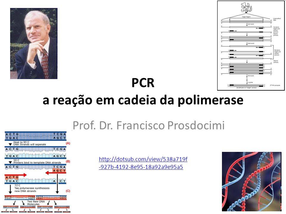 PCR a reação em cadeia da polimerase Prof.Dr.