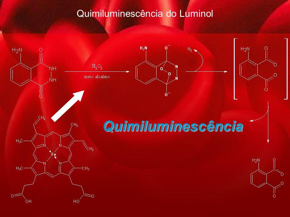 13 Quimiluminescência do Luminol Quimiluminescência