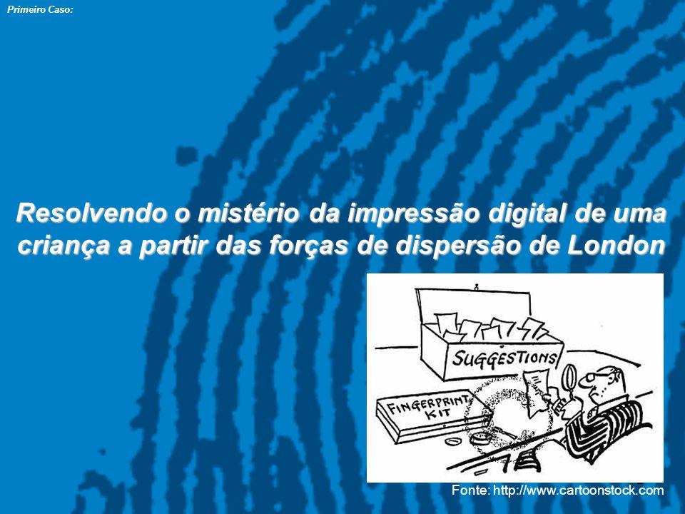 2 Primeiro Caso: Resolvendo o mistério da impressão digital de uma criança a partir das forças de dispersão de London Fonte: http://www.cartoonstock.c