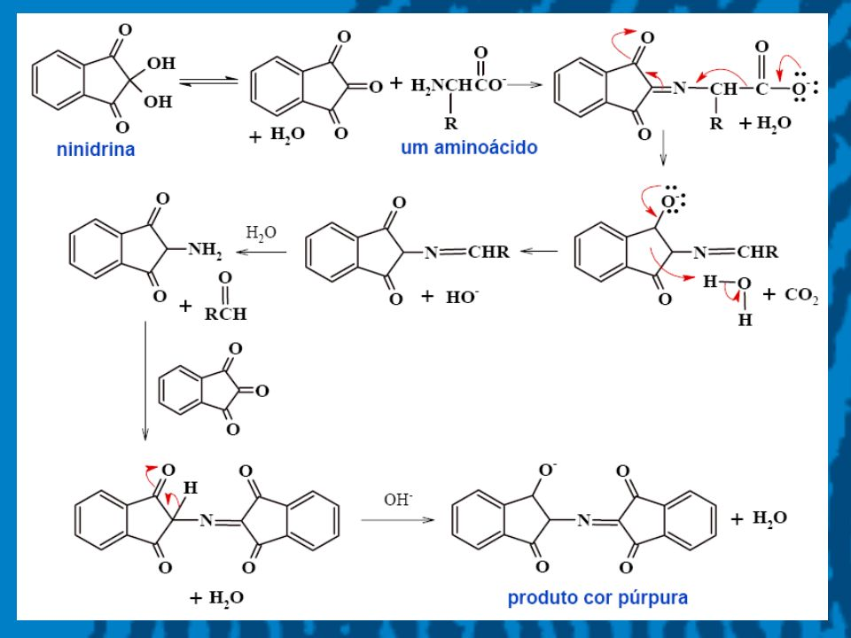 8 Revelação de impressões digitais: a) esq: solvente comercial; dir: éter de petróleo b) esq: solvente comercial; dir: CFC- 113 Impressões digitais reveladas com ninidrina em papel.