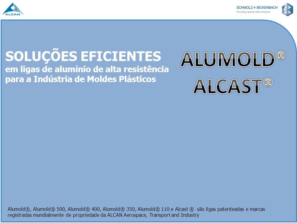 SOLUÇÕES EFICIENTES em ligas de alumínio de alta resistência para a Indústria de Moldes Plásticos Alumold®, Alumold® 500, Alumold® 400, Alumold® 350,