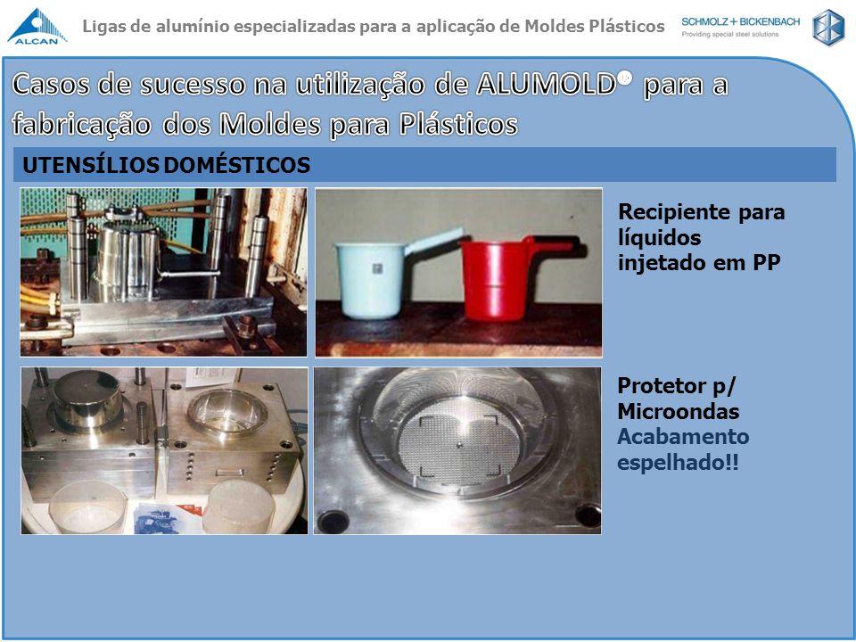 UTENSÍLIOS DOMÉSTICOS Recipiente para líquidos injetado em PP Protetor p/ Microondas Acabamento espelhado!! Ligas de alumínio especializadas para a ap