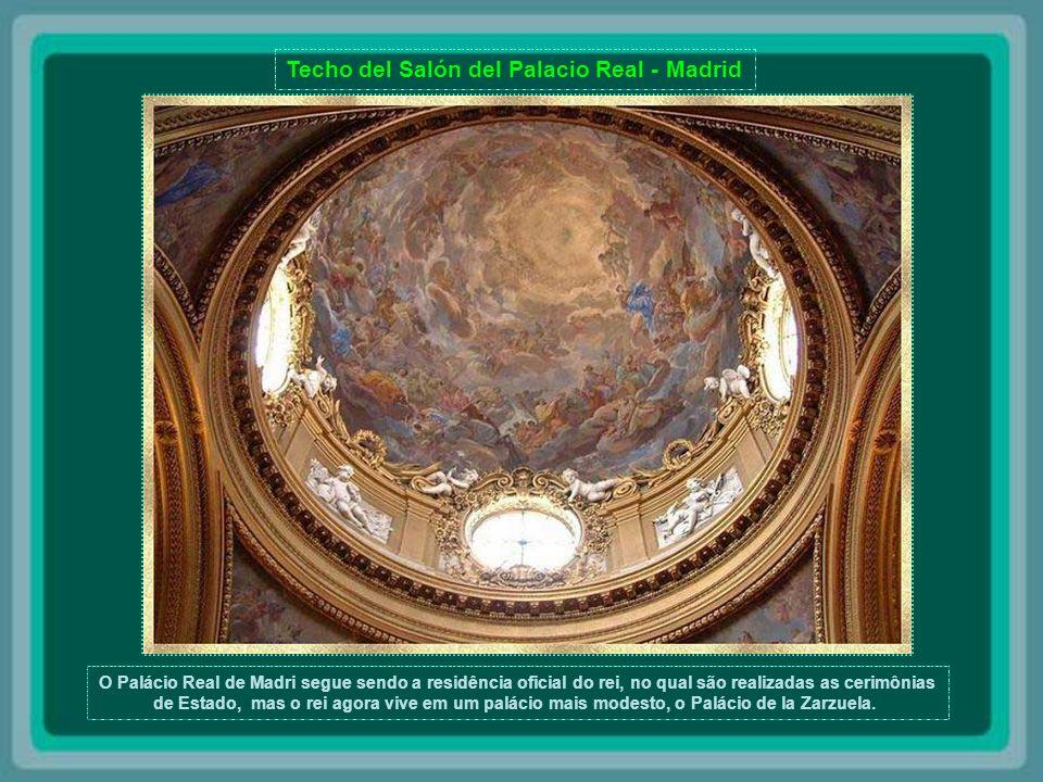 Techo del Palacio Real de Madrid.
