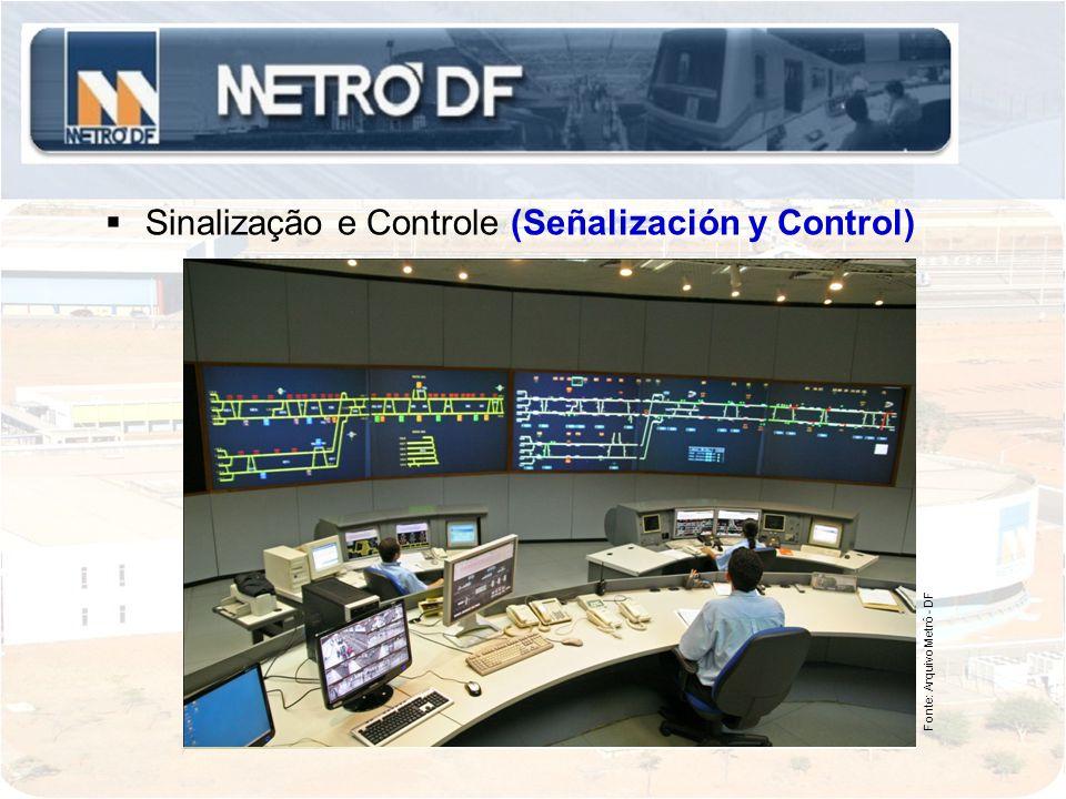 Sinalização e Controle (Señalización y Control) Fonte: Arquivo Metrô - DF
