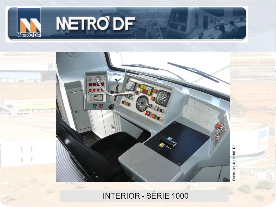 INTERIOR - SÉRIE 1000 Fonte: Arquivo Metrô - DF