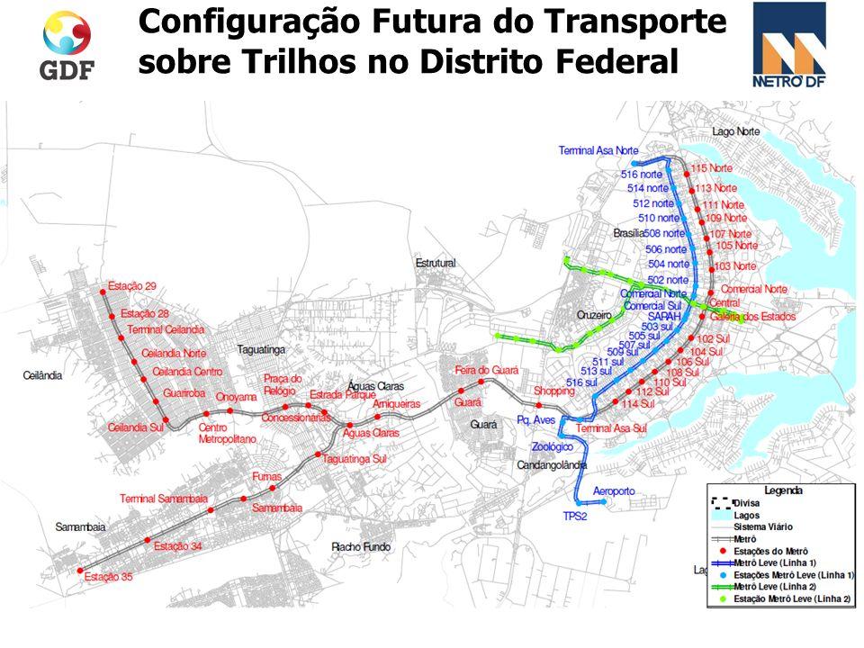 Configuração Futura do Transporte sobre Trilhos no Distrito Federal