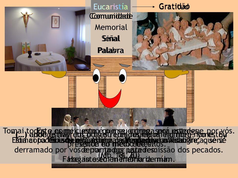Gratidão Comunidade Memorial Sinal Palavra EucaristiaEucaristia (…) onde estiverem dois ou três reunidos em meu nome, Eu estou no meio deles. (Mt. 18,