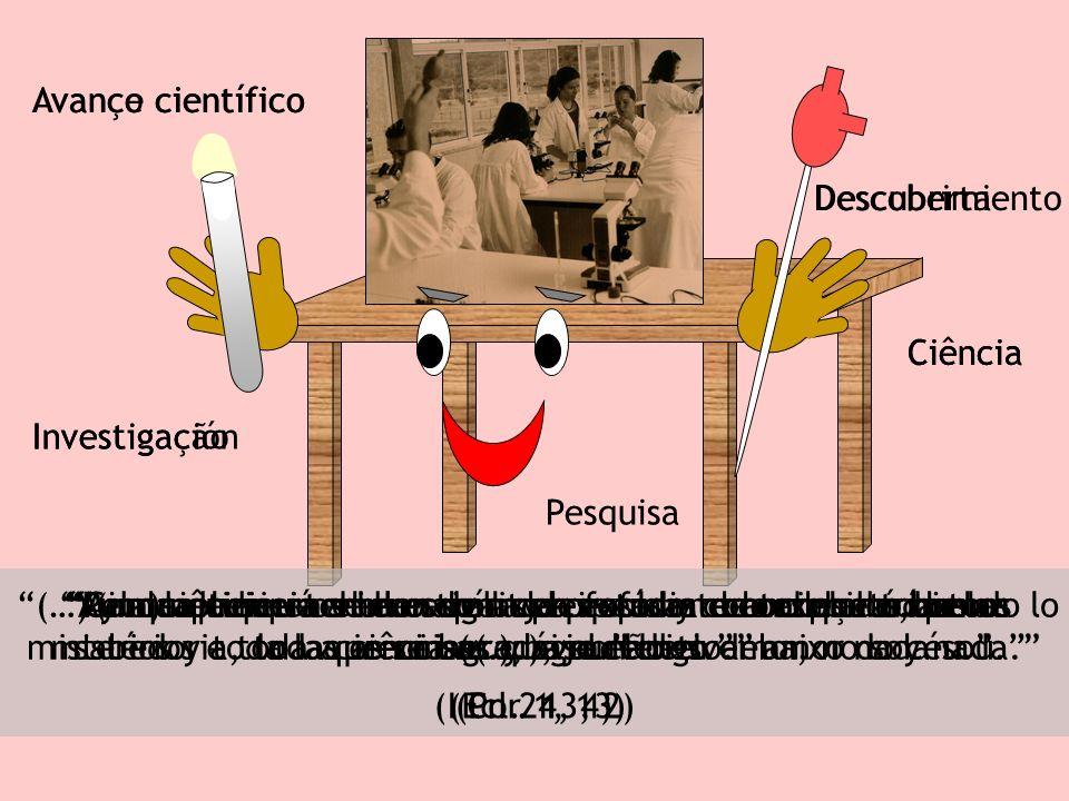 Ciência Pesquisa Investigação Avanço científico Descoberta (Pr.