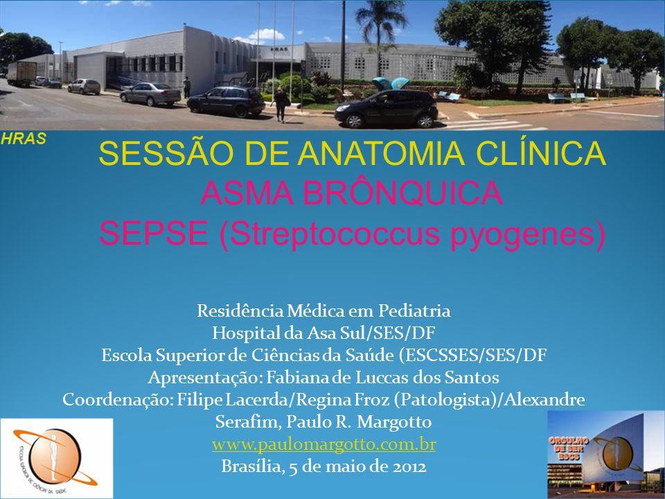 Residência Médica em Pediatria Hospital da Asa Sul/SES/DF Escola Superior de Ciências da Saúde (ESCSSES/SES/DF Apresentação: Fabiana de Luccas dos San
