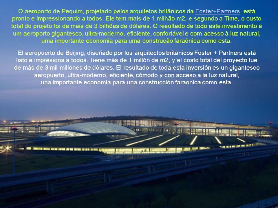 O aeroporto de Pequim, projetado pelos arquitetos britânicos da Foster+Partners, está pronto e impressionando a todos.